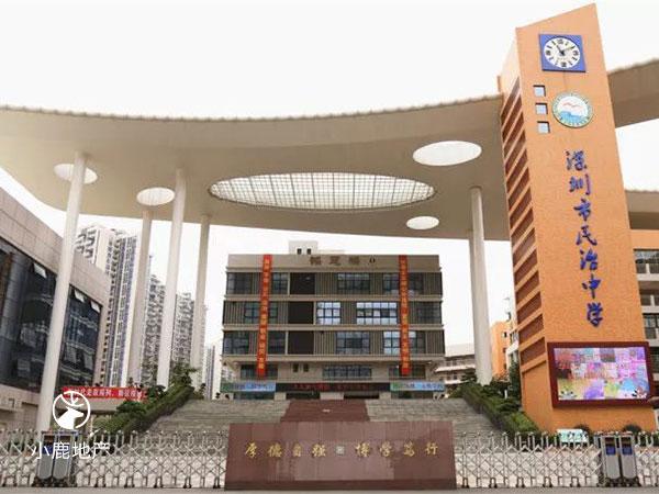 龙华民治中学校门